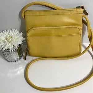 TIGNANELLO Yellow Leather Crossbody